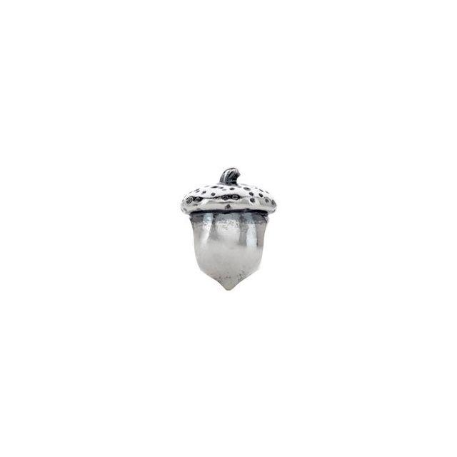 Sterling Silver 12.1x9.4 mm Acorn Bead