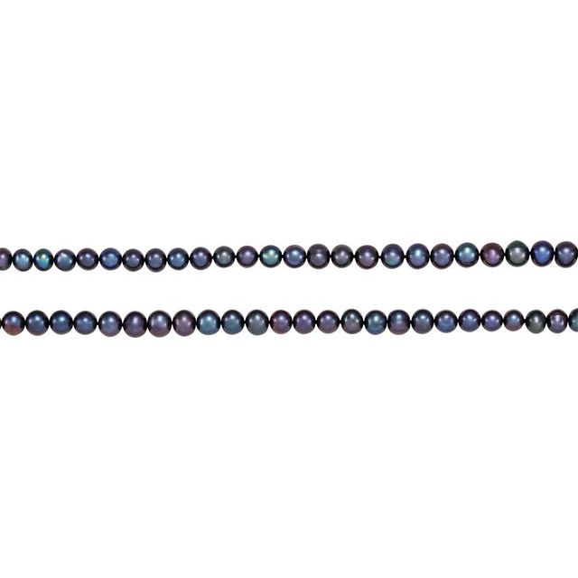 8-9 mm Black Freshwater Cultured Pearl 72