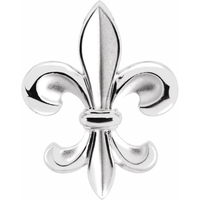 Sterling Silver Fleur-de-lis Pendant