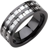 Ceramic Couture® Band with Tungsten Inlay