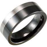 8.0 mm Ceramic Couture™ & Tungsten Flat Band