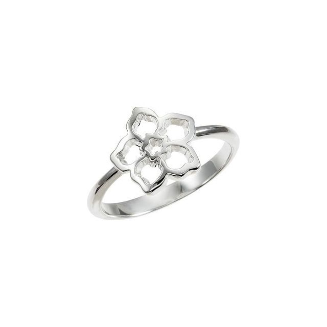 Sterling Silver Forget Me Not Ring