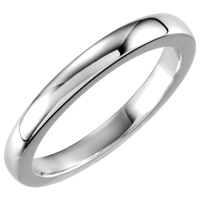 14K White Solstice Solitaire® #7=.40-.65 CT Tapered Bombé Matching Band