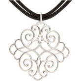 Filigree Scroll Necklace or Pendant