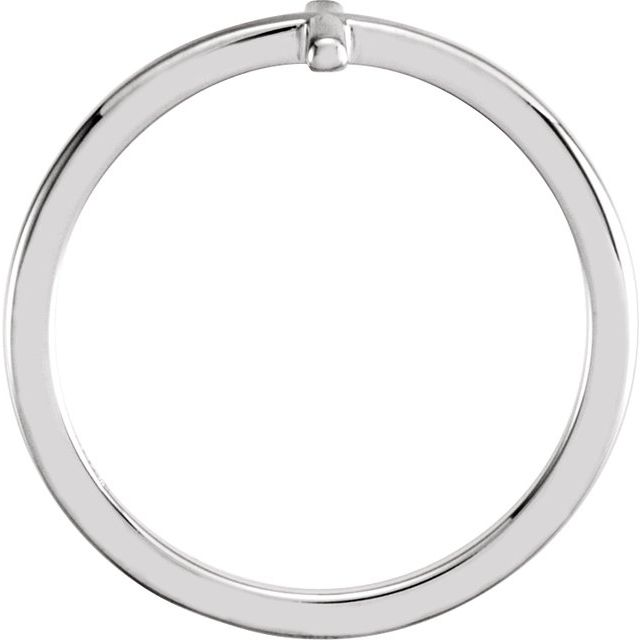 14K White Sideways Cross Ring
