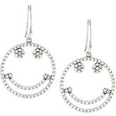 Accented Petite Smiley Face Earrings