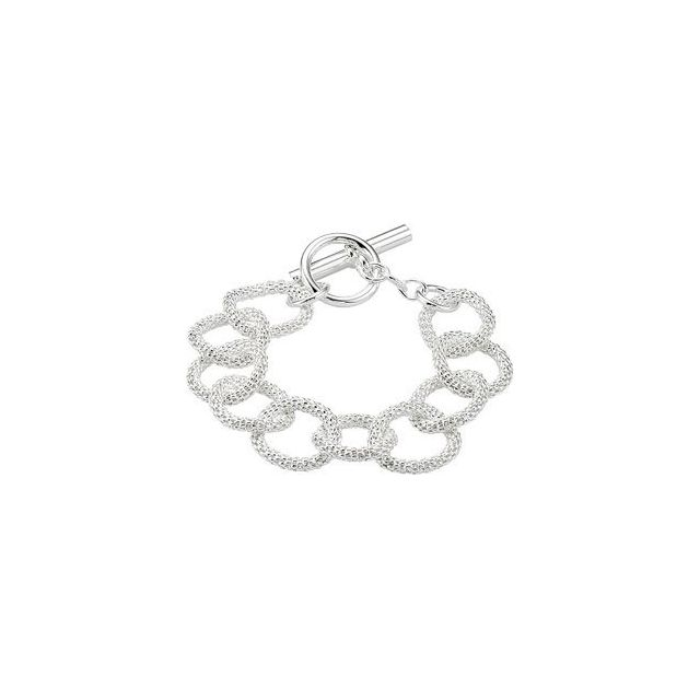 Sterling Silver 21 mm Mesh Link Chain 8