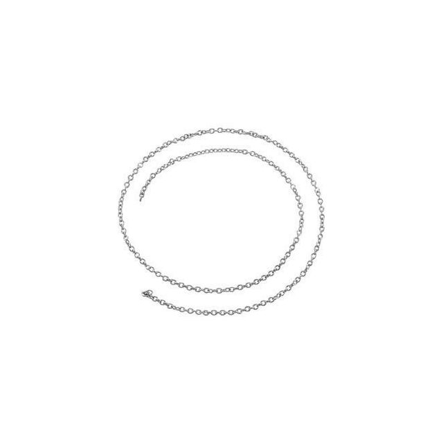 Sterling Silver 1.5 mm Solid Cable Chain by the Inch