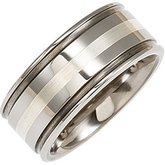 Grooved Band with Inlay
