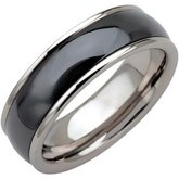 Tungsten 8.3 mm Band with Ceramic Couture® Inlay