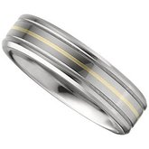 Tungsten Beveled-Edge Band with Inlay