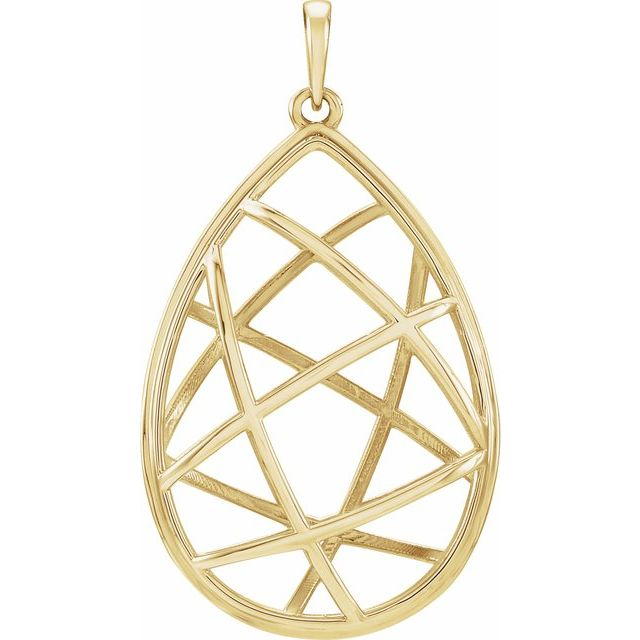 14K Yellow Nest Design Pendant