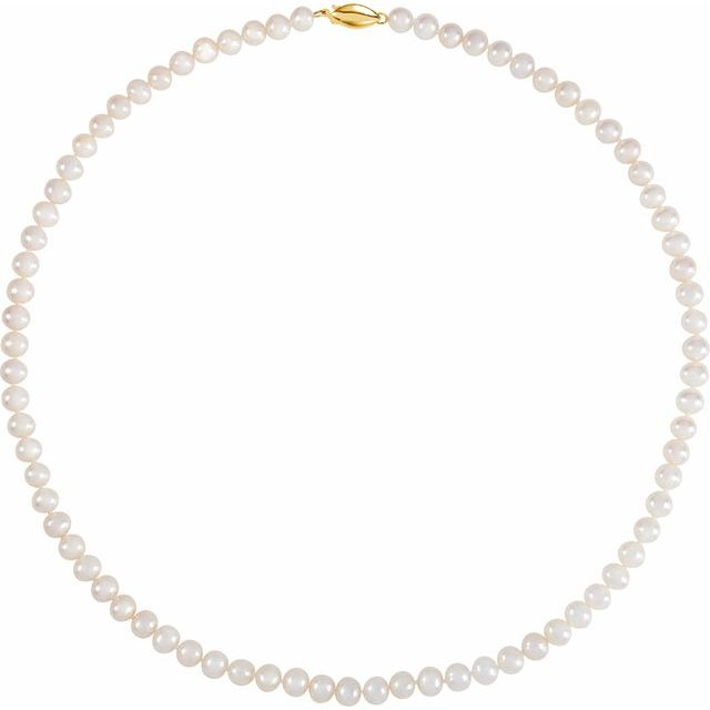 5.5-6.0 mm White Freshwater Cultured Pearl 18