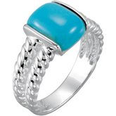Chinese Turquoise Rope Ring