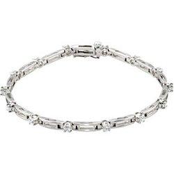 Diamond Line Bracelet alebo neosadený