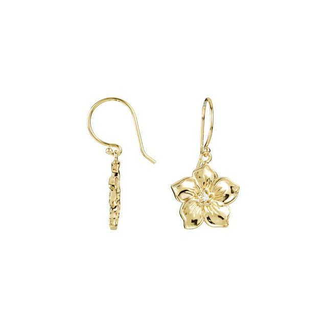 14K Yellow Forget Me Not Earrings