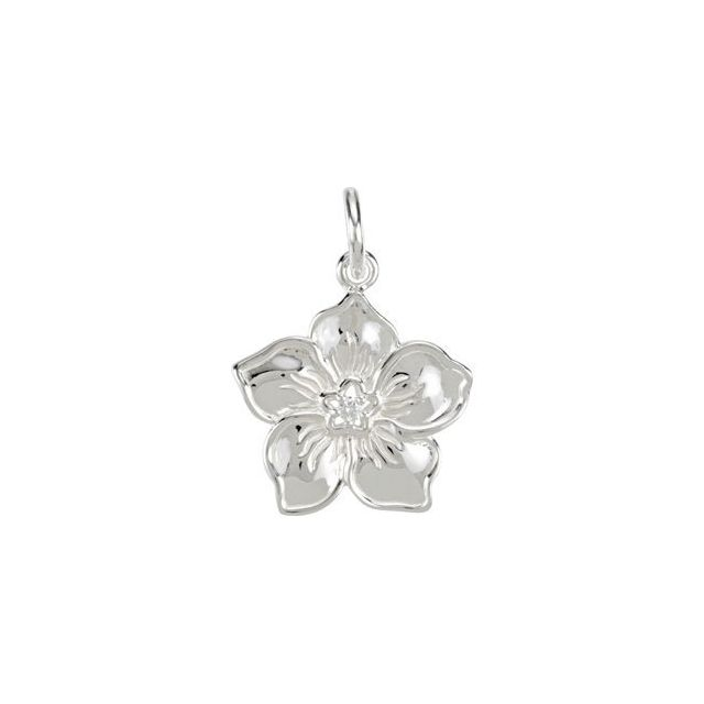 Sterling Silver Forget Me Not Charm