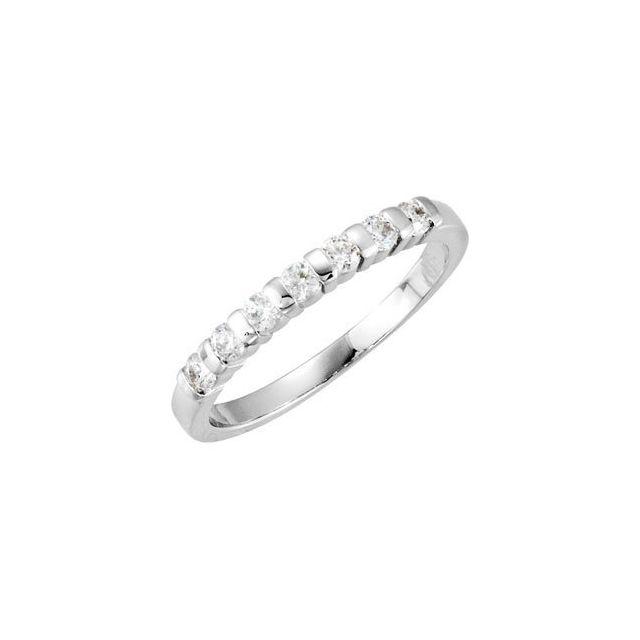14K White 1/4 CTW  Diamond Anniversary Ring