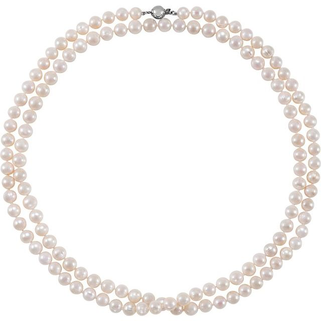 Sterling Silver 8-9 mm Freshwater Cultured Pearl 42