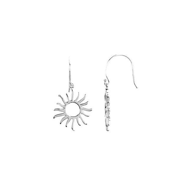 Sterling Silver Petite Sun Earrings