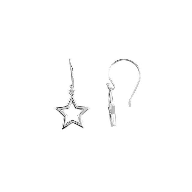 Sterling Silver Petite Star Earrings
