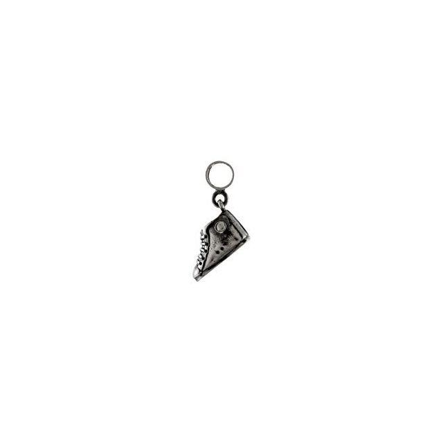 Sterling Silver 13x4.6 mm Tennis Shoe Charm