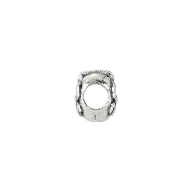 Sterling Silver 10 mm Fleur-de-Lis Bead