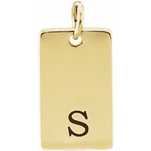 14K Yellow 13x8 mm Be Posh® Rectangle Pendant