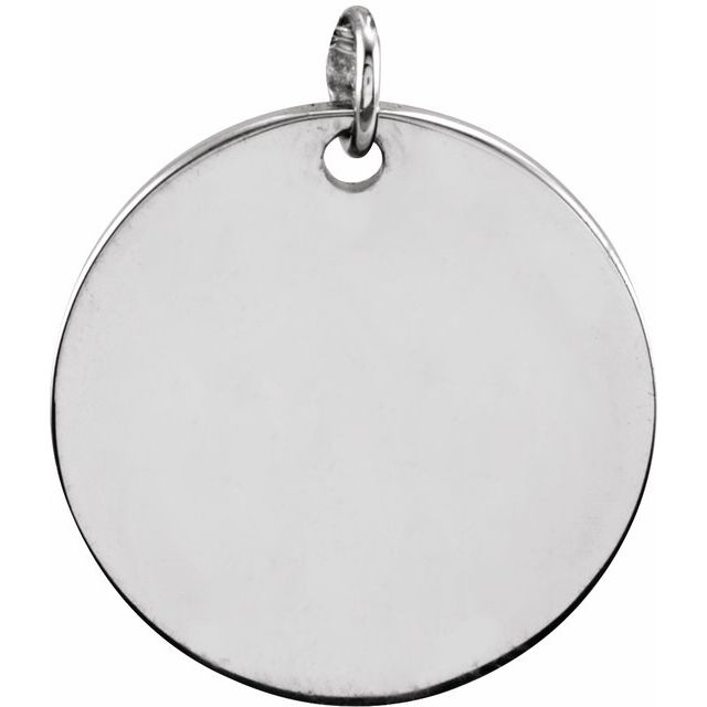 Sterling Silver 13 mm Round Disc Pendant