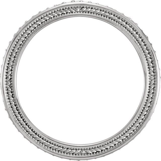 Platinum 1/4 CTW Sculptural Eternity Band Size 7