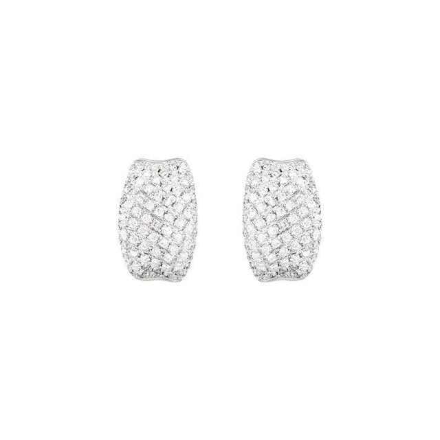 Pavé Hinged Earrings