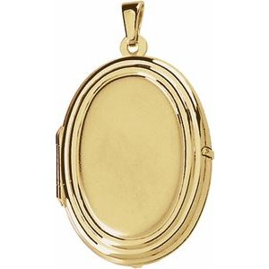 14K Yellow Oval Shaped Locket