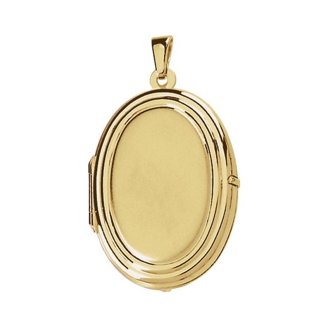 14K Yellow Oval Shaped Locket