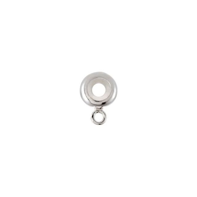 Sterling Silver 7 mm Stopper Bead with Dangle Ring