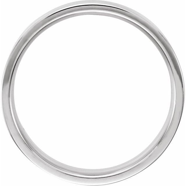 14K White 6 mm Ridged Band with Milgrain Size 11