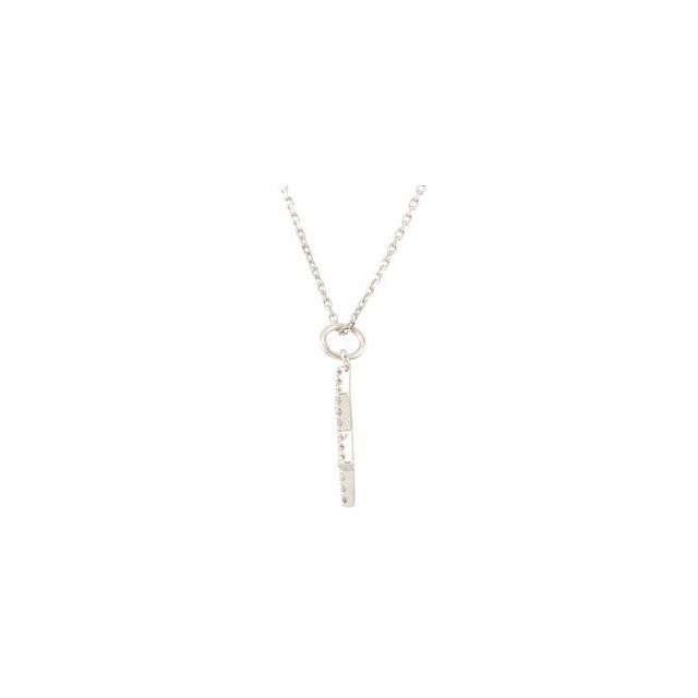 14K White 1/5 CTW Diamond Star of David Necklace