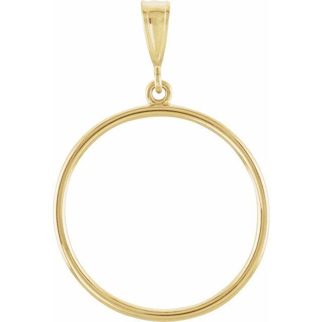 14K Yellow Circle Pendant