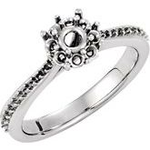 Cluster Halo-Style Engagement Ring or Band