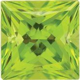 Square SWAROVSKI GEMSTONES™ Genuine Peridot