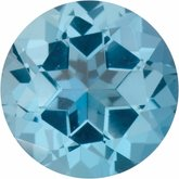 Round Genuine Ice Blue  Topaz