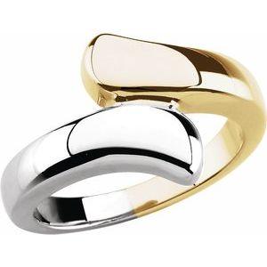 14K Yellow/White Bypass Ring