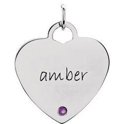 Posh Mommy® Engravable Heart Shape Prívesok Neosadený
