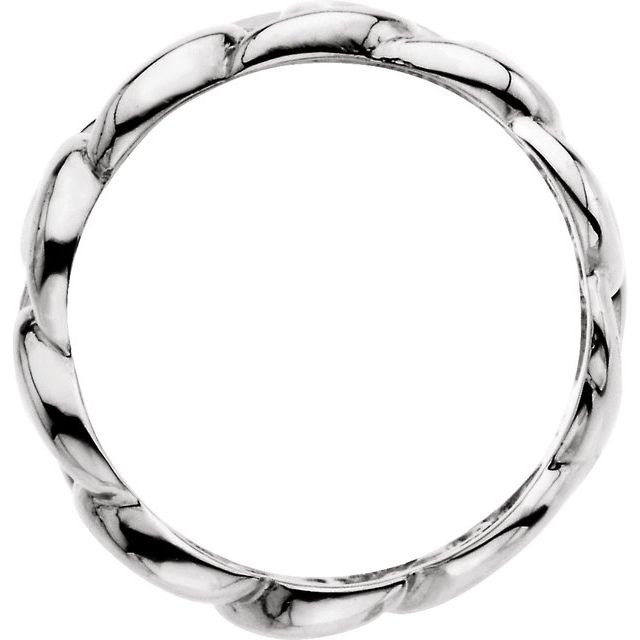 Continuum Sterling Silver 9.5 mm Link Design Band