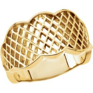14K Yellow Latticework Band
