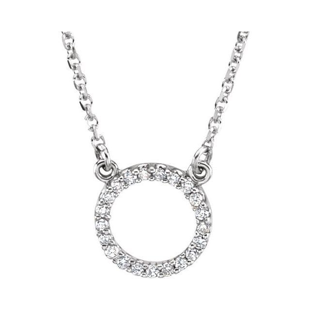 14K White .08 CTW Diamond Circle 16