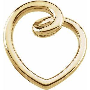 14K Yellow Gold Fashion Heart Pendant