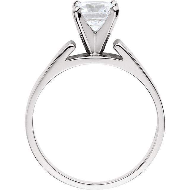 14K White 1/4 CTW Diamond Solitaire Engagement Ring
