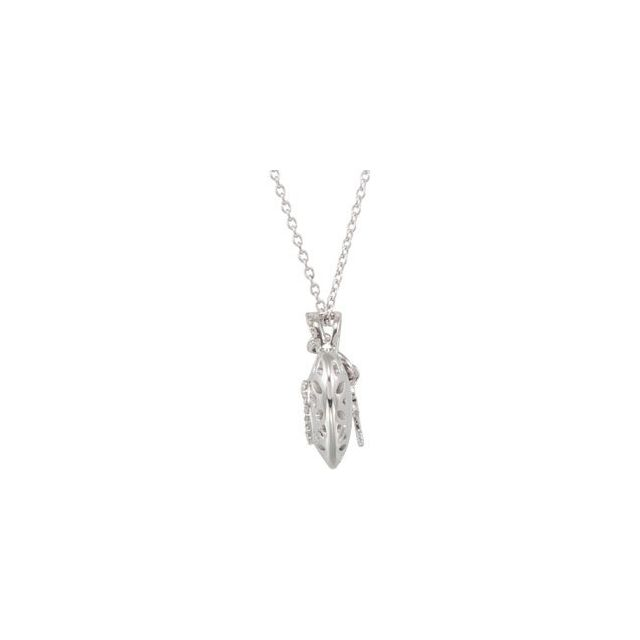 Sterling Silver 1/6 CTW Diamond Heart 18