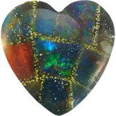 Heart Lab Created Mosaic Opal