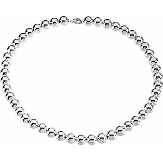 Sterling Silver 10 mm Bead 18